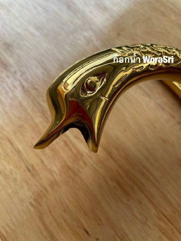 Swan Brass Double Faucet Plating